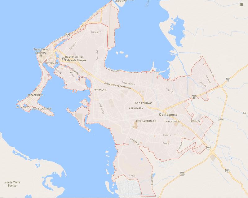 Mapa de Cartagena