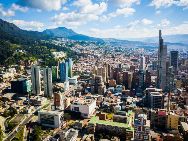 Mapa turístico de Bogotá
