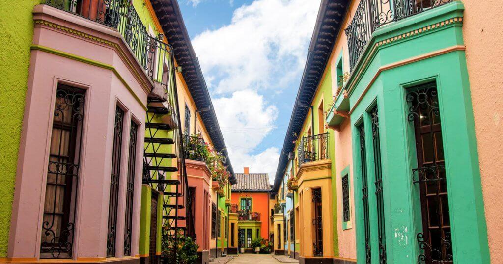 Casinhas em Bogotá, na Colômbia