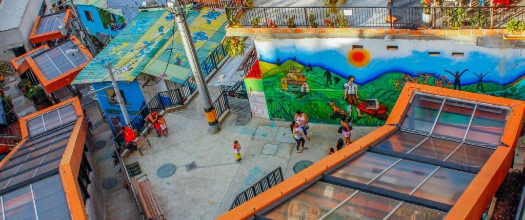 Escaleras em Medellín