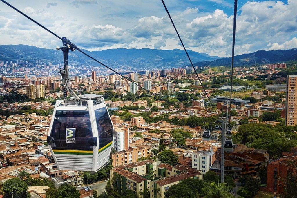Metrocable em Medellín