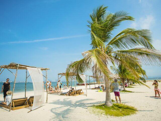 Praias em Cartagena na Colômbia
