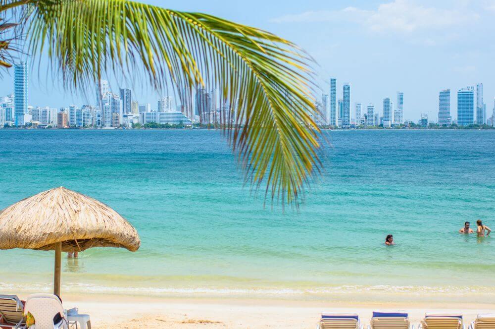 Praia da ilha de Cartagena