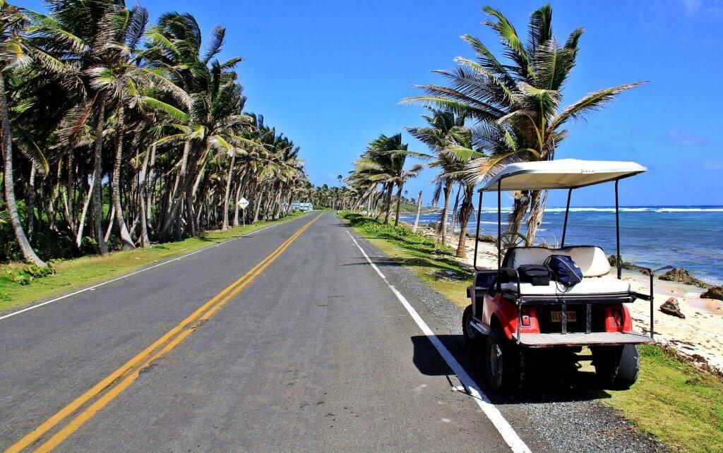 Como andar de carrinhos de golfe e derivados em San Andrés