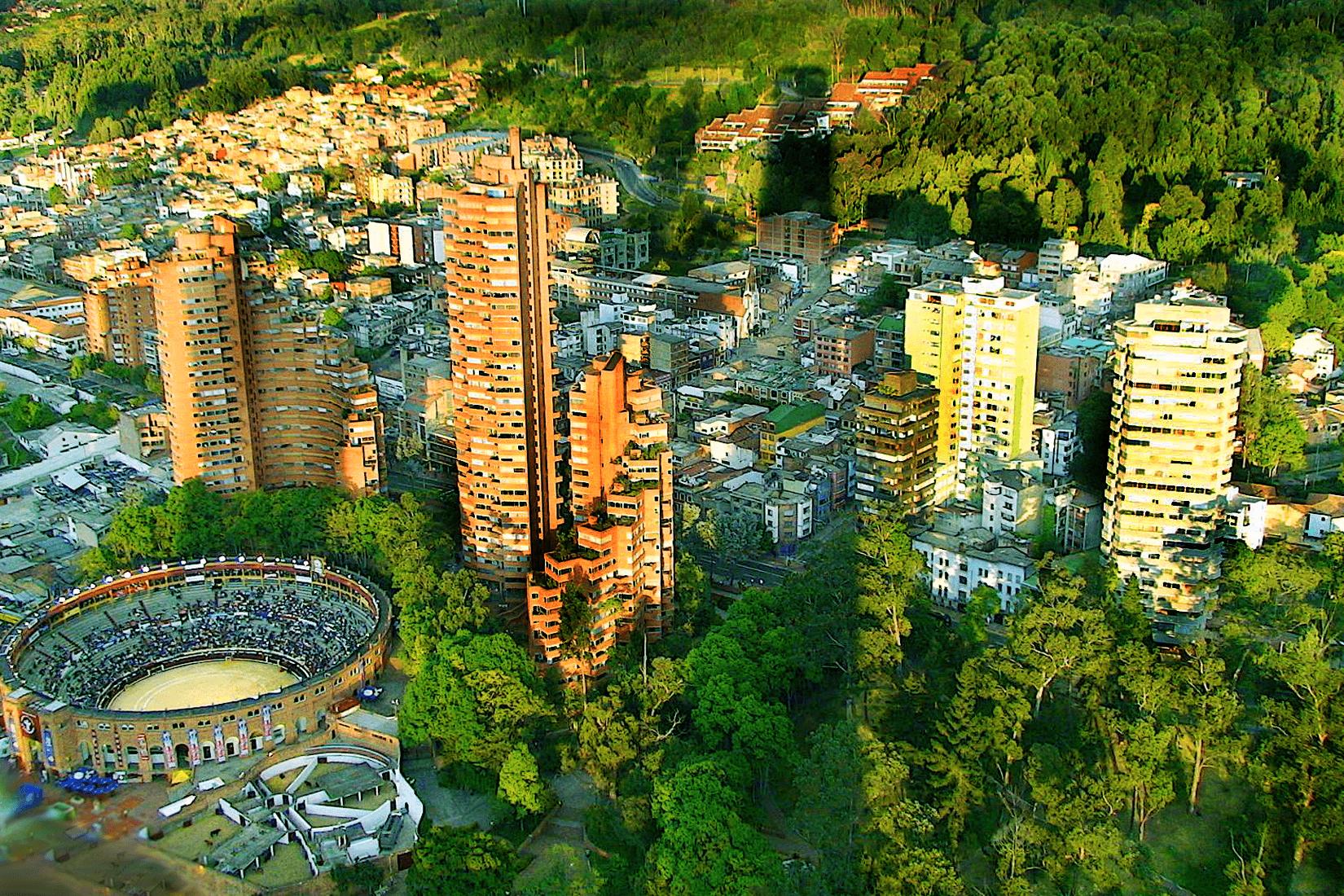 Bogotá: vista aérea