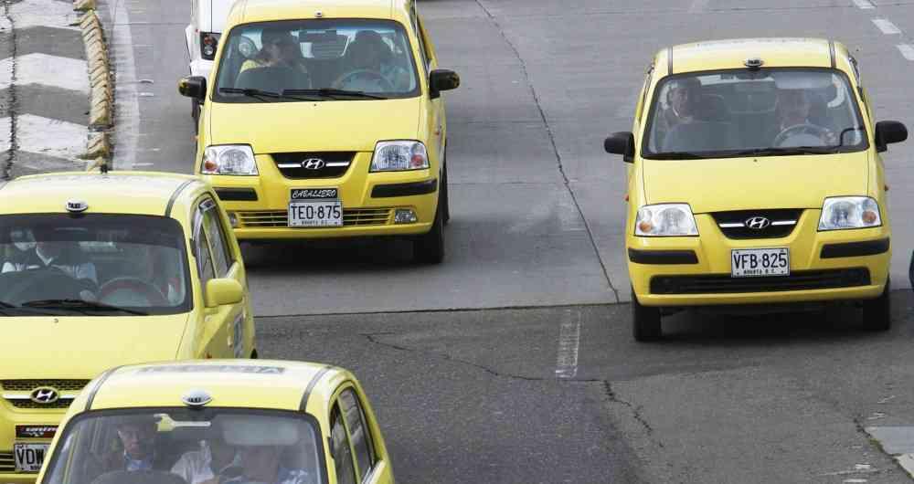Gorjetas em táxis na Colômbia